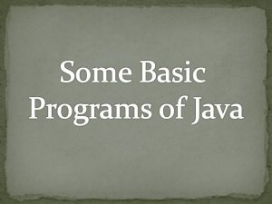 Read more about the article Some basic programs of Java