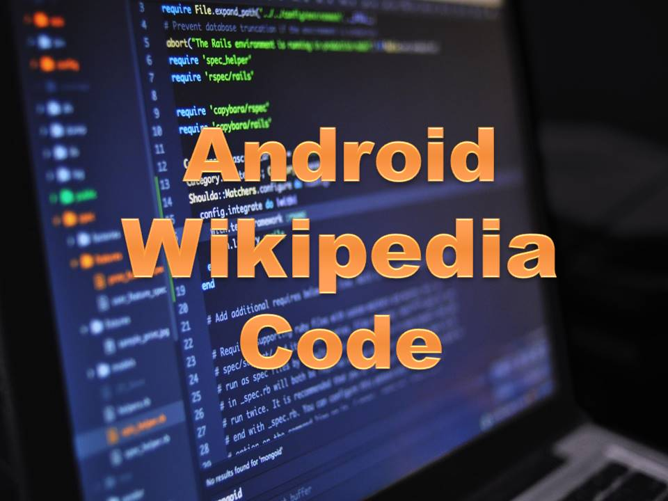How to create android wikipedia app