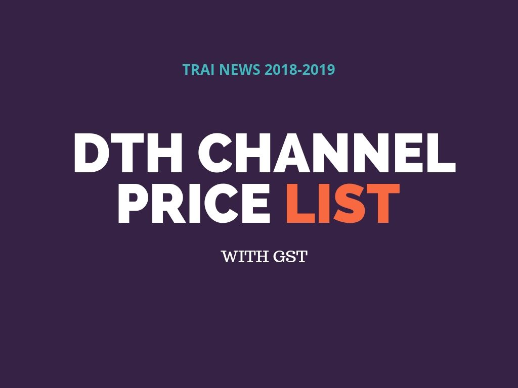 DTH Channel price list