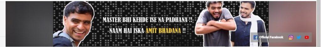 Amit Bhadana youtube channel art
