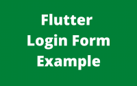 Flutter login form example